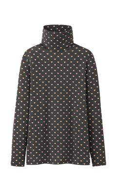 Roll-neck ladybird print top from the UNIQLO x Orla Kiely HeatTech collection. #UNIQLOOrlaKiely