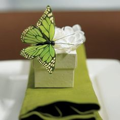 Hand Painted Butterfly Decorations $10.32 (set of 12). Choose from 4 colors. < + more spring theme favors