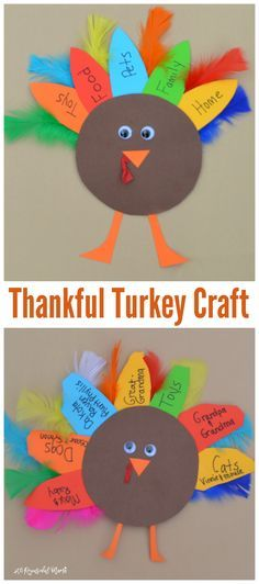 This turkey kid craft is a great way for kids to celebrate Thanksgiving and express those things for which they are thankful. This turkey kid craft is a great way for kids to celebrate Thanksgiving and express those things for which they are thankful. Daycare Crafts, Sunday School Crafts, Classroom Crafts, Toddler Crafts, Thanksgiving Crafts For Kids, Thanksgiving Activities, Thanksgiving Turkey, Fall Kid Crafts, Kids Holiday Crafts