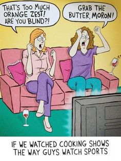 LOL - Watching cooking shows - www.funny-pictures-blog.com