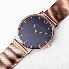 Paul Hewitt Unisex Navy Blue Dial And Rose Gold Bracelet Watch 7f3f5d95afb