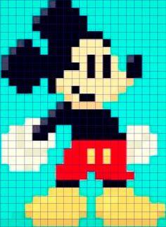 Mickey Perler Patterns, Peyote Patterns, Loom Patterns, Beading Patterns, Quilt Patterns, Unicorn Cross Stitch Pattern, Disney Cross Stitch Patterns, Cross Stitch Designs, Baby Boy Knitting Patterns