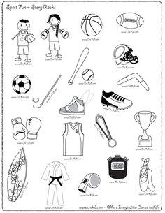 CreKid.com - FREE Story Rocks Printouts - Sport Story Rocks - Spark your child's imagination and creativity. Preschool - Pre K - Kindergarten - 1st Grade - 2nd Grade - 3rd Grade. www.crekid.com