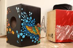 Handmade Art #Cajons - by Joa Teigas  --- Find more info about cajons on cajonguide.com  https://www.behance.net/gallery/8785173/This-Way-Up-Percussion-v13-MOSAIC