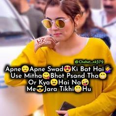 💜N❤K💜 (@chahat_nk379) • Instagram photos and videos Girly Attitude Quotes, Girl Attitude, Girly Quotes, Attitude Status, Fun Quotes, Life Quotes, Crazy Girl Quotes, Crazy Girls, Laughing Jokes