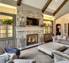 Pay a visit to our web page for much more that is related to this impressive farmhouse Fireplace Fireplace Built Ins, Farmhouse Fireplace, Home Fireplace, Fireplace Remodel, Living Room With Fireplace, Fireplace Surrounds, Fireplace Design, Home Living Room, Living Room Designs