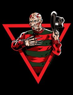 Welcome to my nightmare crossover omfg genius Robert Englund, Freddy Krueger, Best Horror Movies, Scary Movies, Arte Horror, Horror Art, Lion Illustration, Scary Art, Horror Icons