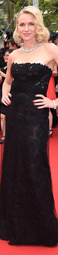 Naomi Watts in Ralph Lauren and Bulgari jewels.