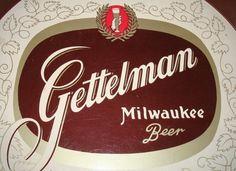 Gettelman Milwaukee Beer Tray