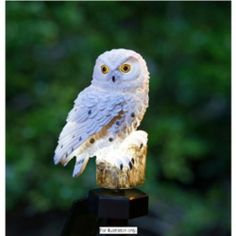 Solar Ed White Snowy Owl Stake Light