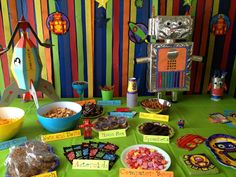 Robot Birthday party food table