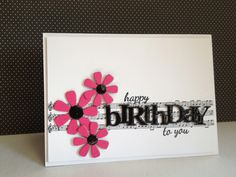 Cute happy birthday card with the Stampin' Up! music notes wheel.