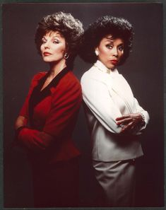 Diahann Carroll and Joan Collins. Also known as Alexis Carrington and Dominique Deveraux!
