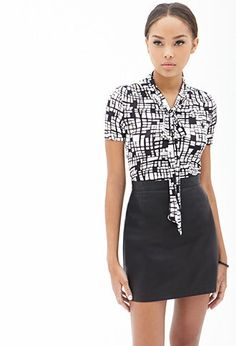 Abstract Geo Print Top | FOREVER21 - 2055879563