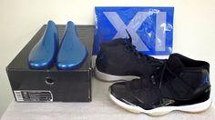 [378037-041] Nike Air Jordan XI 11 Retro SPACE JAM BLK ROYAL WHITE Mens Sz 12 #Nike #BasketballShoes
