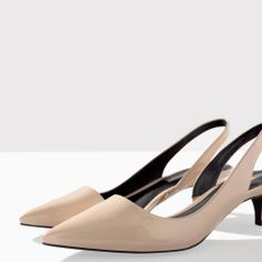 ZARA - WOMAN - KITTEN HEEL SLING BACK
