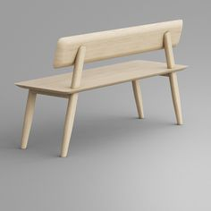 AETAS Bench with a backrest