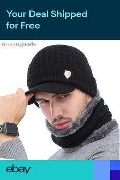 Gorros Sombreros Gorras de invierno para hombres Bufanda de Moda 2019 90d5ff0039b