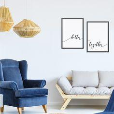Poster Emoldurado - Kit - Better Together.