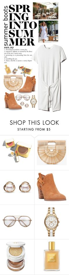 """""""Walk This Way: Summer Booties"""" by shortyluv718 ❤ liked on Polyvore featuring Tom Ford, Cult Gaia, Trilogy, Franco Sarto and Michael Kors"""