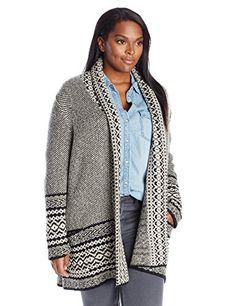 Fashion Womens Plus Size Bordered Sweater www.fashionbug.us #plussize 1X 2X 3X 4X 5X 6X