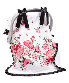 Loving this Pink Blossoms Car Seat Cover on #zulily! #zulilyfinds