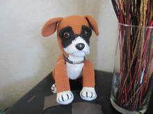 Häkelanleitung für meinen Hund Paco, den kleinen Boxer ( 25 / 30 cm)