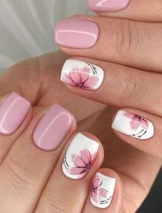(Notitle) (notitle) Nail arts Related posts: 20 Popular Spring Nail Art Design Ideas 2020 Trend Kids educationTop Simple nail designs for short nails - short purple acrylic square . Kids nail designs and ideas for Coffin Acrylic Nails Kids . Pink Nail Art, Flower Nail Art, Cute Nail Art, Beautiful Nail Art, Nail Art Flower Designs, Flower Design Nails, Nail Flowers, Daisy Nail Art, Elegant Nail Art