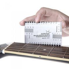 Guitar String Action Gauge Measuring Ruler Bass Luthier Tool