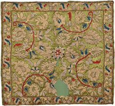 Pillow splendid example of domestic embroidery , Soufli. Evros, Northern Greece