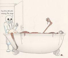 SPAGHETTI BATH by Anko6 on DeviantArt Funny Undertale, Undertale Pictures, Ube, Indie Games, Little Boys, Skeleton, Breathe, Video Games, Spaghetti