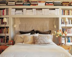 Bookcase Surrounding My Bed Would Love This Bookshelf Headboard Bookshelves Ideas