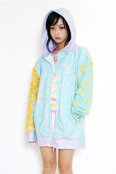 With the super popular 80's Pastel Leopard Hoodie, **galaxxxy** beautifully incorporates elements of craziness into the classic pattern, and provides a truly unique way of showing off your style. The **oversized fit** contributes to an adorable silhouette, and makes the hoodie absolutely wonderful with shorts and skirts. This is definitely one of those pieces that you won't ever want to take off!