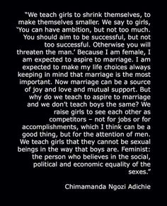 I am a feminist. I shrink for no man.