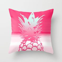 Pink Pineapple Tropical Beach Design Throw Pillow  pillows Cute and kawaii designs on pillows for teens, girls and kids. Find decorative pillows for bedroom, with sayings or beautiful designs. #design #decor #society6 #cute #kawaii #pillow #pillows #sboar #lovely #interior #home #bedroom #bedroomdecor #animals #pets #wild #flower #floorpillow #floor #mermaid