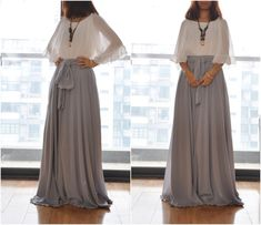 Hey, I found this really awesome Etsy listing at https://www.etsy.com/listing/217404130/beautiful-bow-tie-chiffon-maxi-skirt