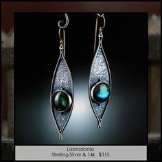Earrings by Amy Buettner.