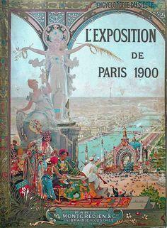 L'Exposition Universalle de Paris 1900  A Exposição Universal de 1900 foi uma feira mundial realizada em Paris, França, para celebrar as conquistas do século passado e acelerar o desenvolvimento para a próxima. O estilo que foi universalmente presente na Exposição foi Art Nouveau.