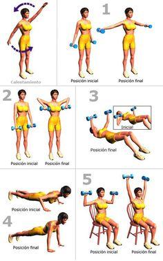 #Rutina sencilla de #ejercicios para #adelgazar y tonificar brazos