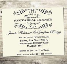 Cute invitation for rehearsal dinner