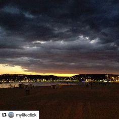 Instagram Repost : #Repost @mylifeclick ・・・ P A L A M O S Storming weather....#emporda #costabrava #palamos #platjagran #palamós #palamosonline #beach #rain #catalunya @palamosonline #palamos
