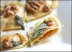 Butternut Squash Ravioli with Browned Butter, Sage & Walnuts [Barefoot Kitchen Witch]