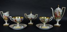 A Very Fine Royal Vienna Porcelain Tea Set