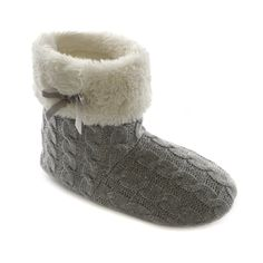 Amazon.com: Womens/Ladies Knitted Winter Boot Slippers: Shoes