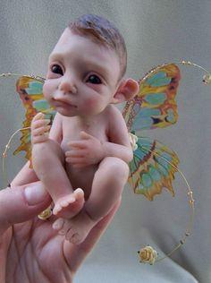 OOAK Butterfly Elf by Malga. $100.00, via Etsy.