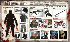Zombie survival sheet (Xan's Version)