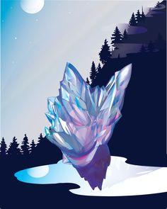 Crystal Mountain #1  Selena Dugan-Fields Crystal Mountain, Selena, Fields, Batman, Superhero, Crystals, Create, Fictional Characters, Art