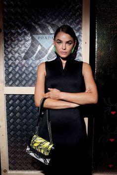 Prada Linea Rossa Party in New York Channel V, Louis Vuitton Twist, Lady Dior, Bambi, Prada, New York, Shoulder Bag, Tops, Fashion