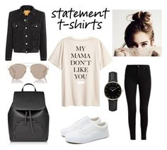 """statement t-shirts"" by boobear-2423 ❤ liked on Polyvore featuring Vans, Balenciaga, Christian Dior and ROSEFIELD"