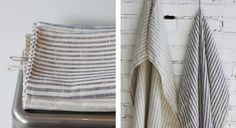 "Linen-towels-thin-stripes-small-loop the ""Heavy Linen Bath Towel by Fog Linen"